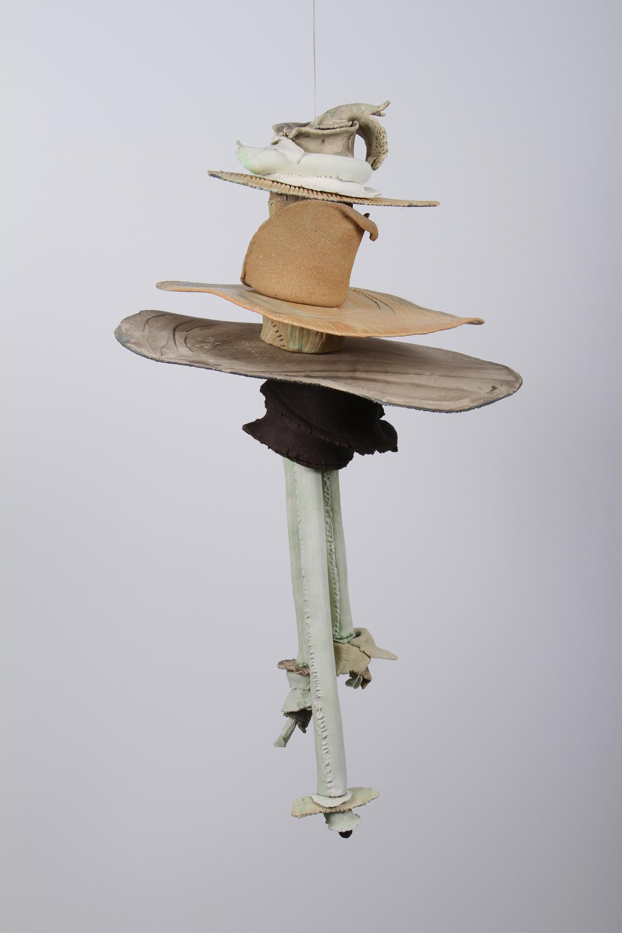 Transitions 2, Ceramic, Cone 10, Underglazes, 36 x 20 x 16 in., 2013